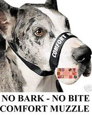 DOG Grooming Training No Bark/No Bite Comfort Quick Fit Adjustable MUZZLE *LARGE