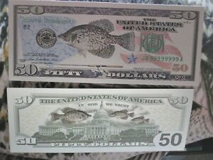 3 Crappie Banknotes Fishing Money Soft Plastics Mounts Antlers Molds Driftwood