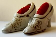 Ceramic Shoe Pin Cushions 1 Pair Small Made in Japan