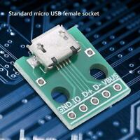 10Pcs Micro USB Female Socket to DIP Adapter Board 5 Pin 2.54mm Pitch