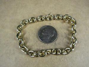 "Cartier Inc 18K Yellow Gold Oval Links Chain Bracelet, 328, 7"", 15.5g"