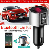 Wireless Bluetooth Car USB Charger Handsfree FM Transmitter Radio MP3 Player Kit