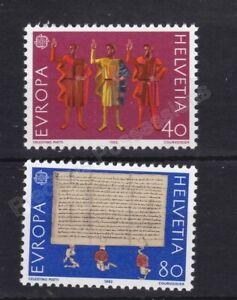 EUROPA MNH STAMP SET 1982 SWITZERLAND HISTORICAL EVENTS SG 1028-1029