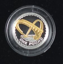 2008 GOLDEN SILHOUETTE £1 SILVER PROOF - MILLENNIUM BRIDGE coin only no coa