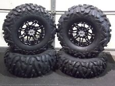 "POLARIS SPORTSMAN 570 27"" QUADKING ATV TIRE & STI HD3 BLK WHEEL KIT POL3CA"
