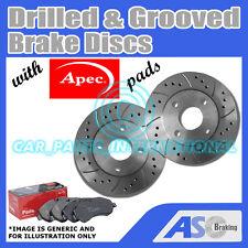 Perforado & Ranurado 5 Stud 272 mm Solid Discos De Freno (Par) D_G_2624 con almohadillas de APEC