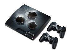 PS3 PlayStation 3 Slim Skin Design Foils Aufkleber Schutzfolie - Bullet Holes