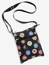 Harry Potter Patches & Icons Passport Canvas Crossbody Purse Bag Tote NWT!