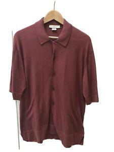 John Smedley Full Button Short Sleeve Top