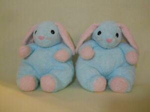 """TY Bunnybaby Twins 1999 plush stuffed baby 12"""" Pillow Pals rattle lot of 2"""