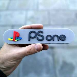 Sony PSone 3D logo / shelf display / fridge magnet - gaming collectible