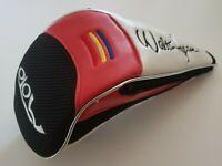 Walter Hagen Moto Driver Headcover Head Cover Red Black White
