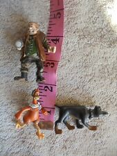PVC Cake Topper Toy Chicken Run Doberman Dog Mr Tweedy Lot 3 Playmates 2000