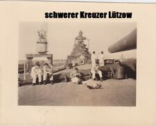 schwerer Kreuzer Lützow + Prinz Eugen ? Tarnnetz  in Kiel Kriegsmarine  #25