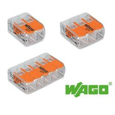 Wago 2 3 or 5 Way Compact Spring Lever Connector 221-412 221-413 221-415