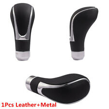 Real Leather Gear Shift Knob Shifter Lever For Car Manual Automatic Transmission