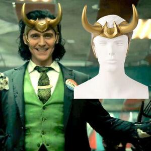 Loki Crown Horns Cosplay PVC Headgear Adult Helmet Halloween Party Props