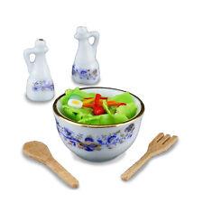 Reutter Porzellan Salatzubereitung/fresh Tossed Salad Set Dollhouse 1 12