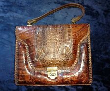 Vintage 1940s ETCO Genuine Alligator Purse Handbag, great shape, made in Florida
