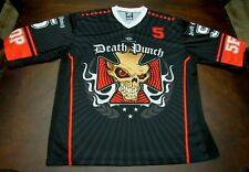 5 FINGER DEATH PUNCH Rock Concert Hockey Jersey Shirt!!! Size LARGE!!!