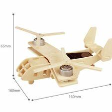 3D helicóptero Rompecabezas De Madera, V22 kit modelo de bricolaje Osprey, aviones de energía solar