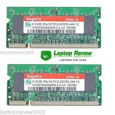 1GB -  QTY 2 512MB Memory Simms for Dell Latitude D610 D620 D630 D631 D820 D830