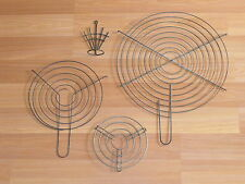 VTG Old Stove Top Kitchen Metal Wire Hot Plate Counter Cooling Rack Holder Lot