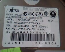 Hard Disk Drive IDE Fujitsu Limited MPE3064AT CA05367-B70200KR 102-0304 YFIN