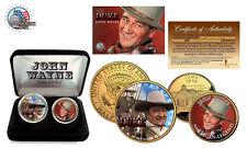 JOHN WAYNE *The Duke*24K Gold U.S Legal Tender 2-Coin Set *Officially Licensed*