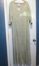 The Paragon Women's 2 X Alluring Acid-Washed Rayon Dress  Sage  NEW!