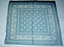 New Unisex 100% Cotton Bandana/Head Wrap/Scarf, Gray Paisley w/Skulls (Fade)