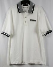 EUROBAY Mens White MCI Prepaid Polo Uniform Shirt Size Large