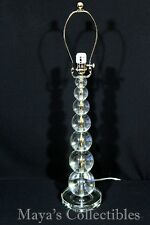 "Stacked Crystal Spheres Balls Table Lamp 29"" Tall Mid Century Style Heavy !"