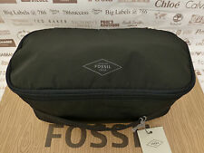 FOSSIL Wash Bag TRAVIS Travel Kit Black Polyester Large Toiletry Bags BNWT RP£39