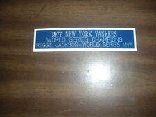 New York Yankees 1951 World Series Champions engraving nameplate