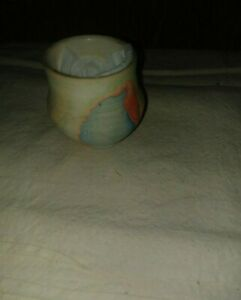 "COLORADO POTTERY NEAT OLDER VINTAGE APP 2 BY 2"" SMALL BOWL PLANTER MULTI-COLORS"