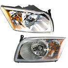 Front Headlights Headlamps Lights Lamps LH & RH Pair Set for 07-12 Dodge Caliber