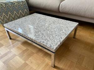 Wilkhahn Couch-/Sofa-Tisch mit Granitplatte, verchromt
