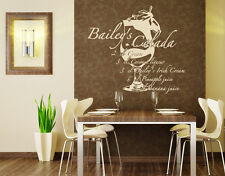 Bailey's Colada Coktail - highest quality wall decal sticker