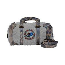 FENDI Lizard And Faux Pearls Embellished Handbag Mint Limited Edition