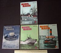 1960 Vintage Model Maker Magazine x 4. Ships Cars Yachts Adverts Engineering #11