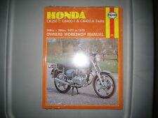 NOS Haynes Honda Owners Workshop Manual 77-79 CB250 T CB400 T 249cc-395cc #429