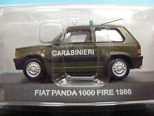 FIAT PANDA 1986 1000 Fire in Verde/Bianco De Agostini 1:43 SCALA CARABINIERI