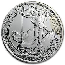 2014 1 oz Silver Britannia Year of the Horse Privy (Abrasions) - SKU #83591