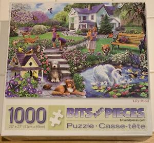 LILY POND PUZZLE  BITS AND PIECES 1000 PIECE PUZZLE  NO. 44778