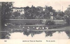 RIO DE JANEIRO BRAZIL~JARDIM da PRAÇA da REPUBLICA~A RIBEIRO #192 POSTCARD 1910s