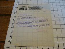 Vintage letterhead: 1899 MEOMINEE ELECTRIC & MECHANICAL co N.N. HILL BRASS