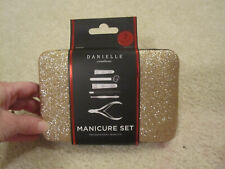 Danielle creations manicure set professional quality 7 piece gold case new