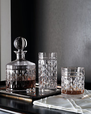 NEW RALPH LAUREN 4 GLASSES DOF ASTON CRYSTAL DOUBLE OLD FASHIONED DRINKWARE