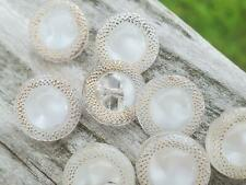 Vintage German Small Mixed lot Domed Glass Moonglow 11.35mm Buttons DIY Crafts